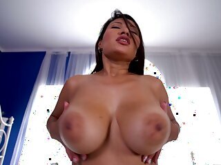 Indulge rides dick better than anyone and she's sexy with those huge tits