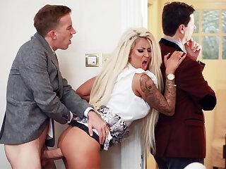 Wife hardcore fucks behind back of her husband