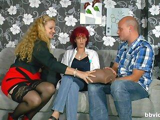 Amateur homemade FFM threesome with three matured sluts - compilation