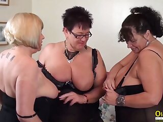 OldNannY Auntie Trisha Threesome Inverted Party Masturbation