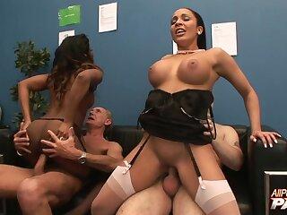 Forlorn rendezvous interracial sex party Jasmine Webb and Romana Ryder